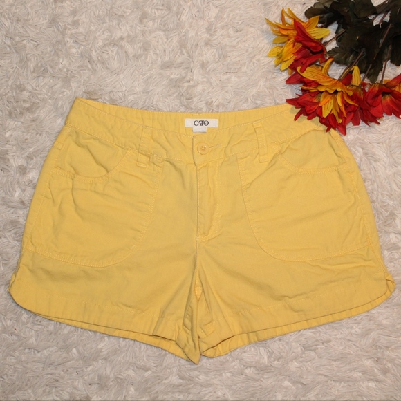 45c2c75a Cato Shorts | Womans Yellow Size 4 | Poshmark